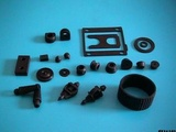 Miscellaneous pieces of rubber